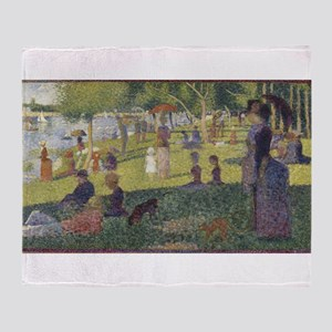 Georges Seurat's A Sunday Afternoon Throw Blanket