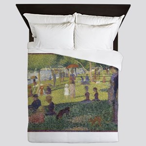 Georges Seurat's A Sunday Afternoon on Queen Duvet
