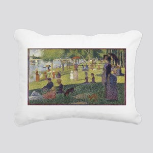 Georges Seurat's A Sunda Rectangular Canvas Pillow