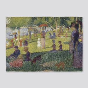 Georges Seurat's A Sunday Afternoon 5'x7'Area Rug