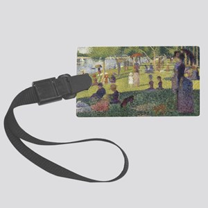 Georges Seurat's A Sunday Aftern Large Luggage Tag