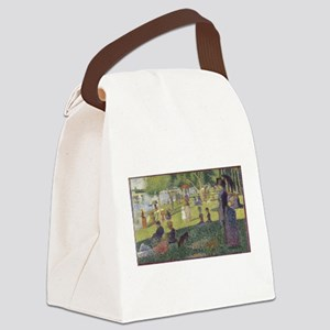 Georges Seurat's A Sunday Afterno Canvas Lunch Bag