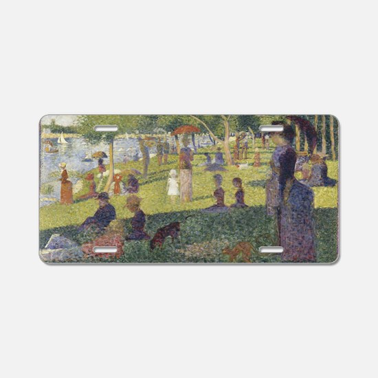 Georges Seurat's A Sunday A Aluminum License Plate
