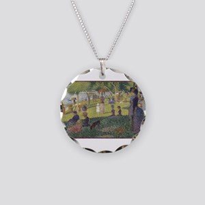 Georges Seurat's A Sunday Af Necklace Circle Charm
