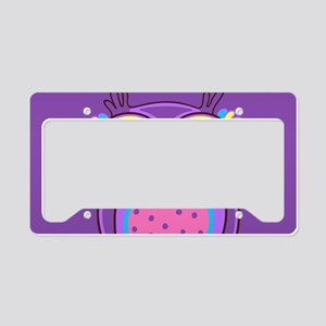 Colorful Owl License Plate Holder