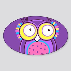 Colorful Owl Sticker