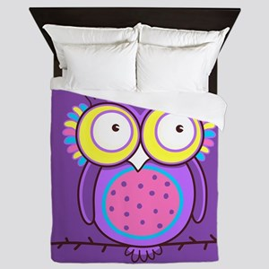 Colorful Owl Queen Duvet