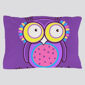 Colorful Owl Pillow Case