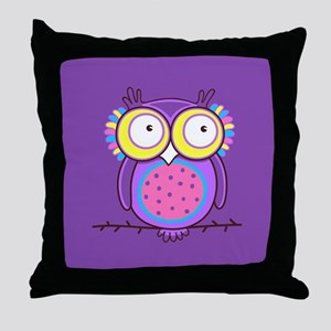 Colorful Owl Throw Pillow