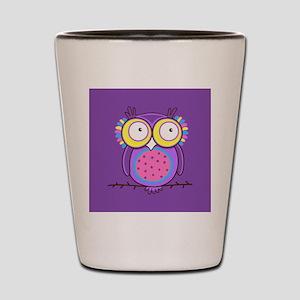 Colorful Owl Shot Glass