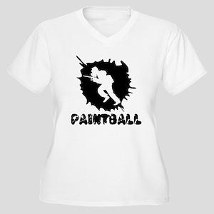 Paintball Splatter Plus Size T-Shirt