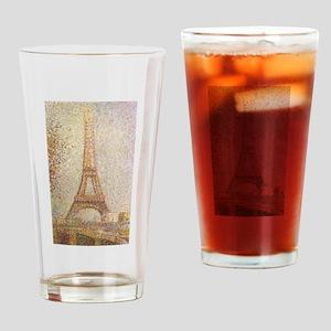 Georges Seurat's La Tour Eiffel Drinking Glass