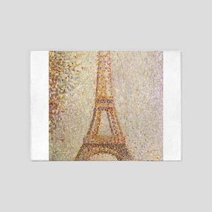 Georges Seurat's La Tour Eiffel 5'x7'Area Rug
