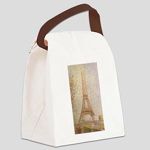 Georges Seurat's La Tour Eiffel Canvas Lunch Bag