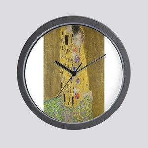 Gustav Klimt's The Kiss Wall Clock