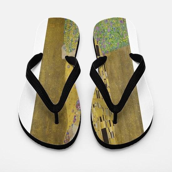 Gustav Klimt's The Kiss Flip Flops