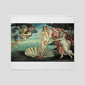 Sandro Botticelli's The Birth of Ven Throw Blanket