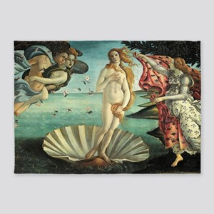 Sandro Botticelli's The Birth of Ve 5'x7'Area Rug