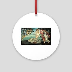 Sandro Botticelli's The Birth of Ve Round Ornament