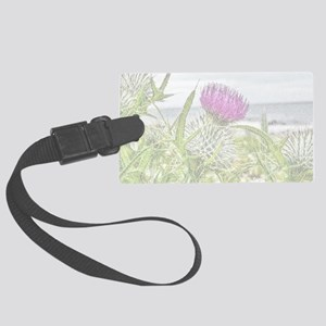 Thistle Picture of Flower of Scotland Luggage Tag