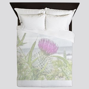 Thistle Picture of Flower of Scotland Queen Duvet