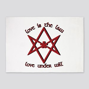 Love Is Law 5'x7'Area Rug