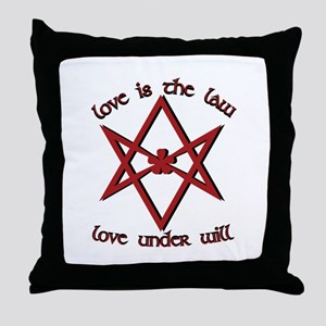 Love Is Law Throw Pillow