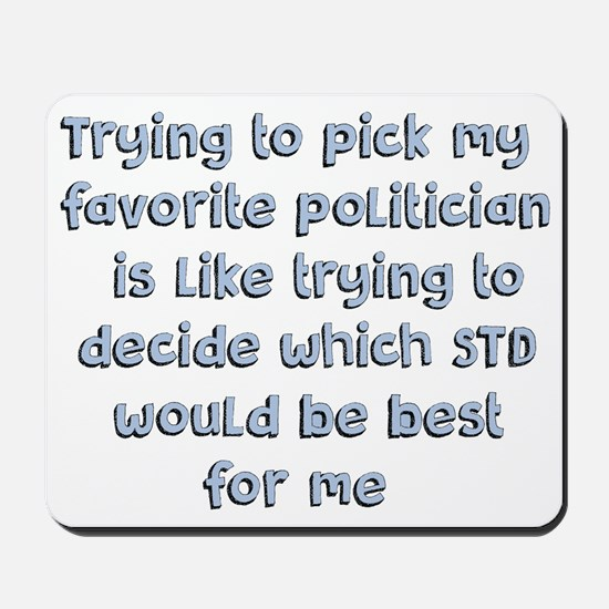 Political Thought Mousepad