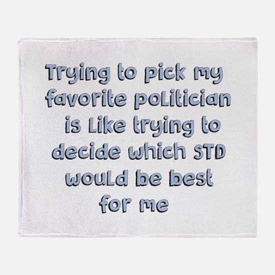 Political Thought Throw Blanket