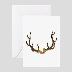 Deer Antlers Greeting Cards
