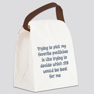 Political Thought Canvas Lunch Bag
