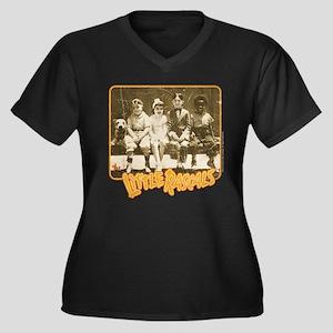 The Little R Women's Plus Size V-Neck Dark T-Shirt