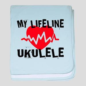 My Lifeline ukulele Music baby blanket