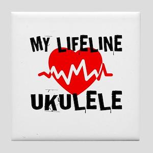 My Lifeline ukulele Music Tile Coaster