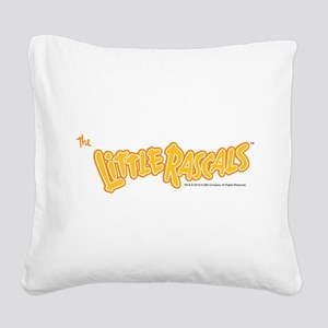The Little Rascals Logo Square Canvas Pillow