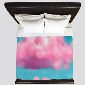Cotton Candy Clouds King Duvet