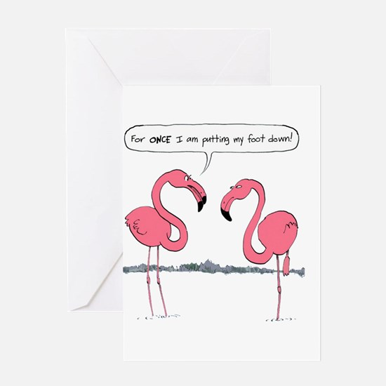 Putting My Foot Down Greeting Cards