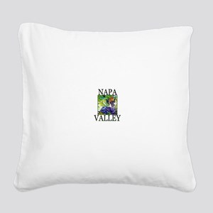 Napa Valley Square Canvas Pillow