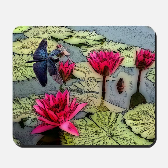 Dragonfly Pond Mousepad