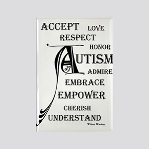 Autism love & Awareness Rectangle Magnet