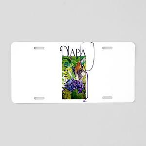 Napa Cabernet Aluminum License Plate
