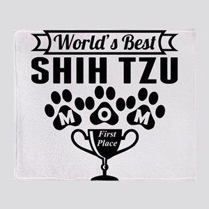 World's Best Shih Tzu Mom Throw Blanket