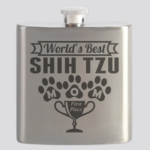 World's Best Shih Tzu Mom Flask
