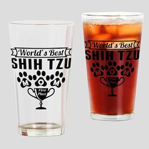 World's Best Shih Tzu Mom Drinking Glass