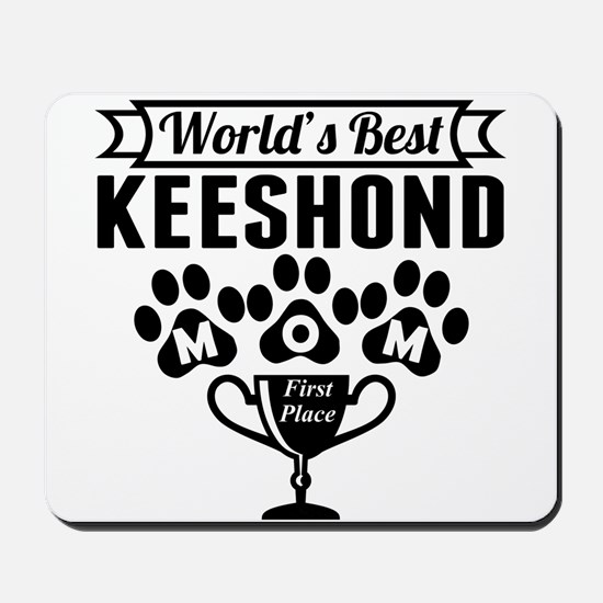 World's Best Keeshond Mom Mousepad