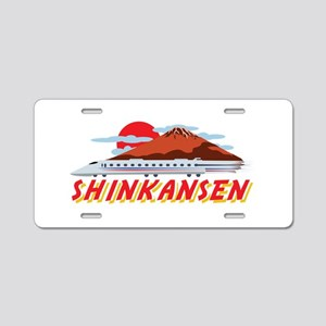 Shinkansen Aluminum License Plate