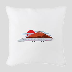 Bullett Train Woven Throw Pillow