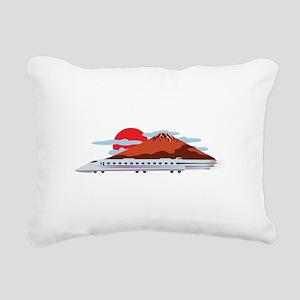 Bullett Train Rectangular Canvas Pillow