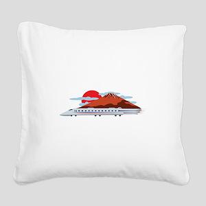 Bullett Train Square Canvas Pillow