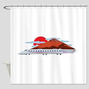 Bullett Train Shower Curtain
